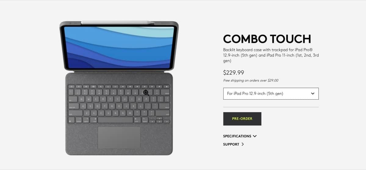 Logitech Combo Touch precio