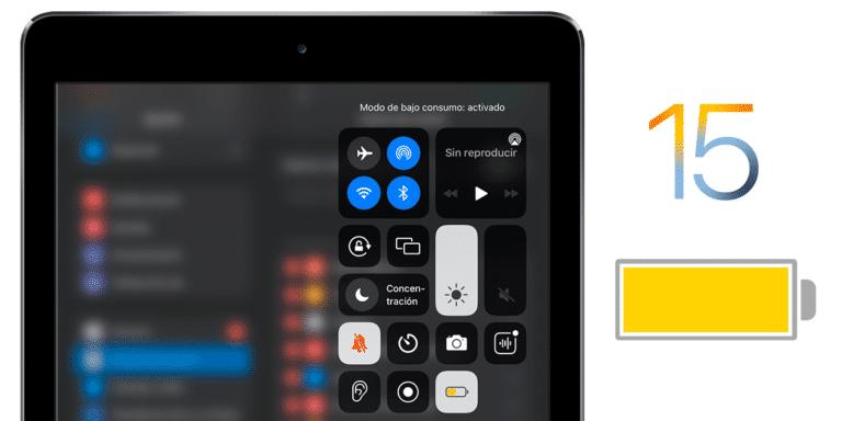 Ahorro de batería en iPadOS 15