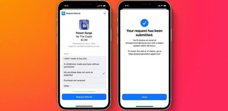 Solicitar devolusión compras in-app iOS 15