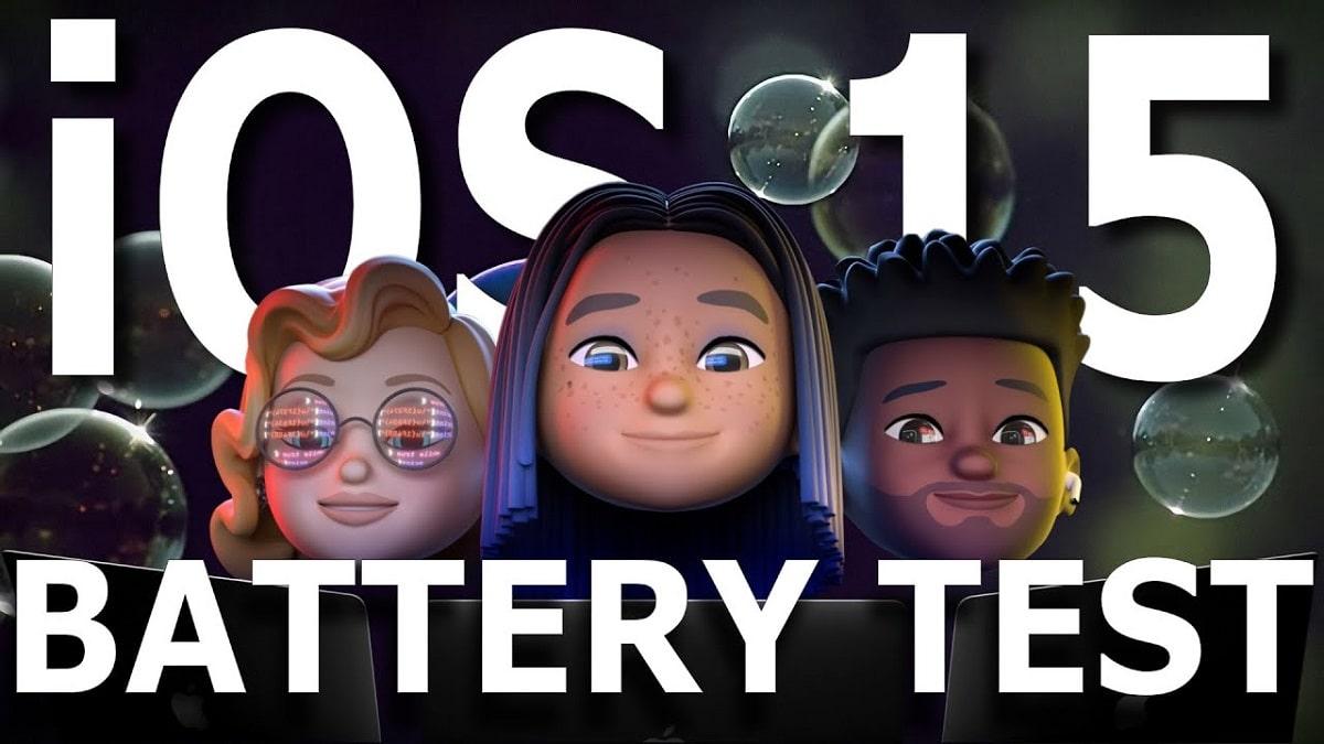 iOS 15 vs iOS 14.6 test de batería