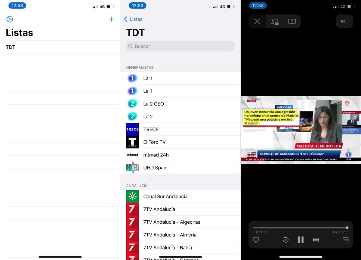 Aplicación IPTV