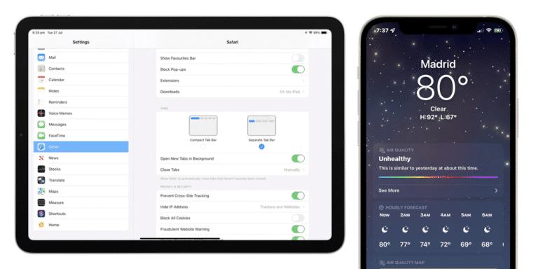 Novedades en la cuarta beta de iOS 15 y iPadOS 15