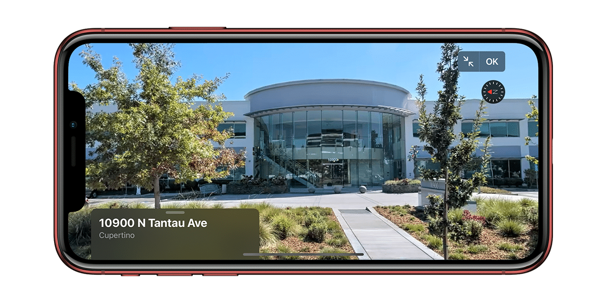 Vista panorámica en Apple Maps