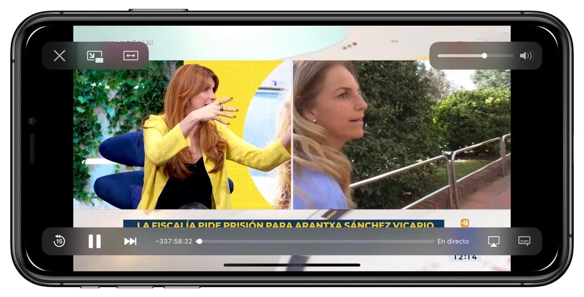 TV en directo en el iPhone