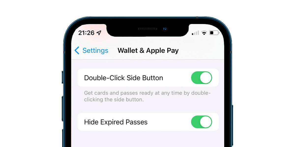 Wallet en iOS 15