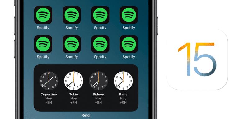 Apps duplicadas en iOS y iPadOS 15