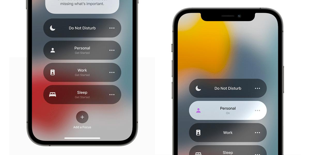 Modos de concentración en iOS 15
