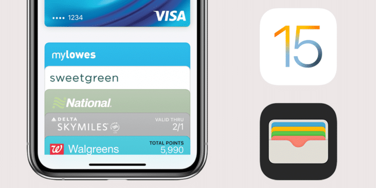 Apple Wallet en iOS 15