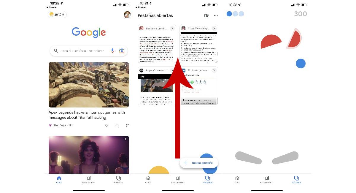 Juego Pinball aplicación Google
