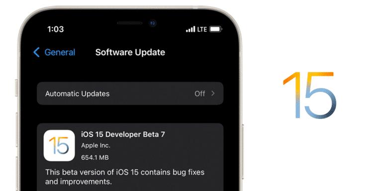 Séptima beta de iOS 15