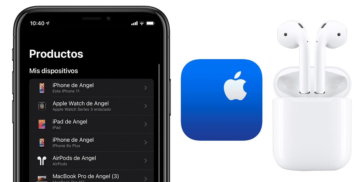 Soporte de Apple y AirPods en lista de dispositivos