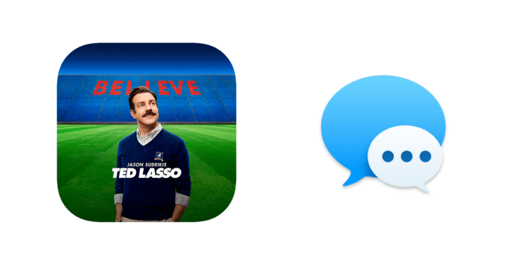 Ted Lasso y stickers en iMessages