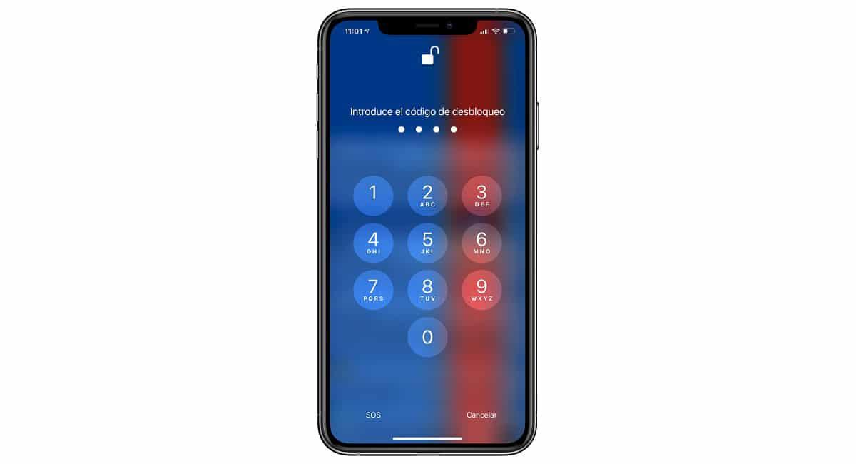 Código bloqueo iPhone
