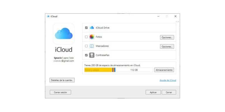 Gestor de contraseñas iCloud para Windows