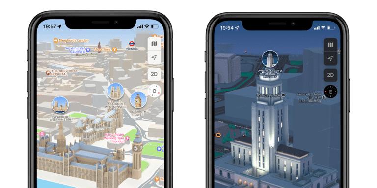Nuevos mapas en Apple Maps en iOS 15