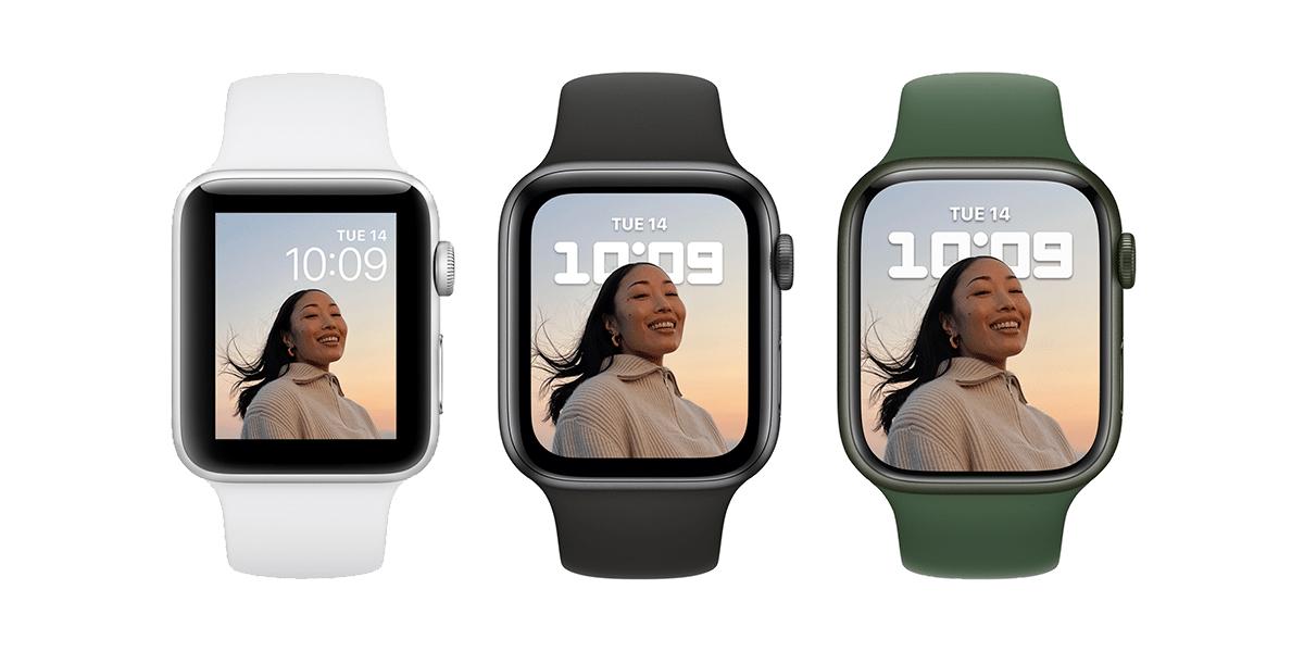 Diferencia de tamaños Apple Watch Series 3, 6 y 7