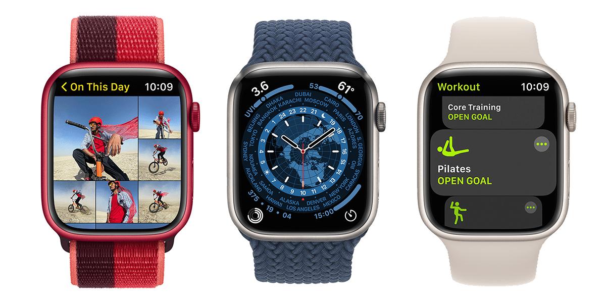 watchOS 8 en el Apple Watch Series 7