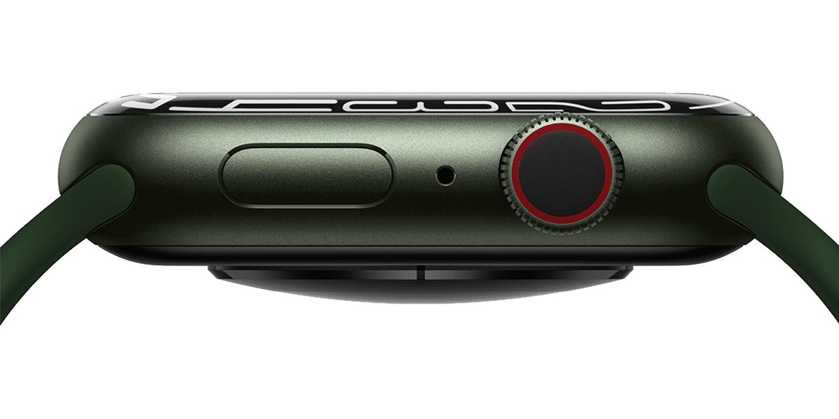 Caja y nuevo rediseño del Apple Watch Series 7