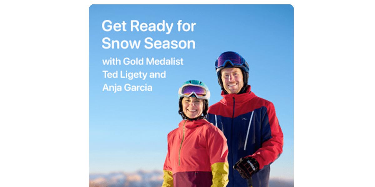Deportes de invierno en Apple Fitness+