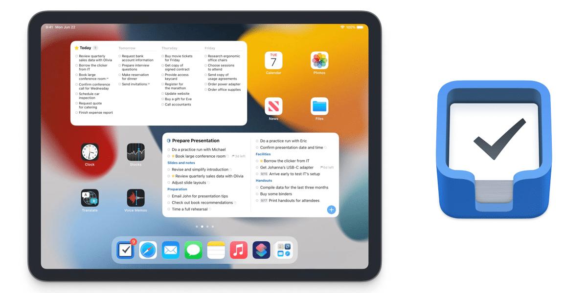 Things 3, en iPadOS 15