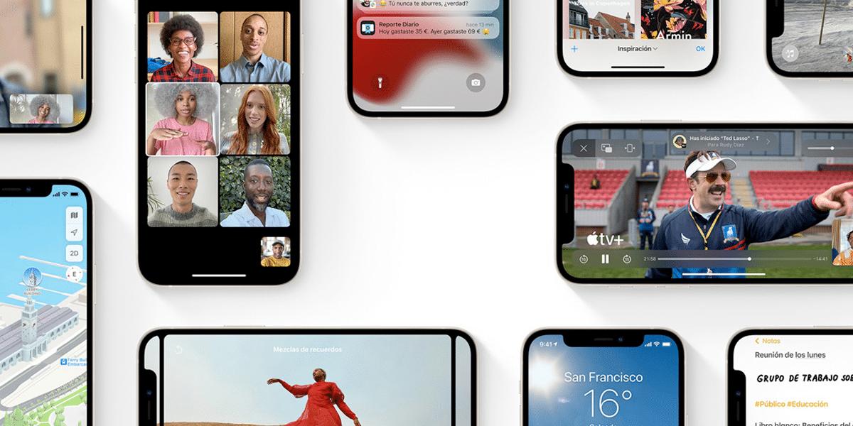 iOS 15 en el iPhone 13