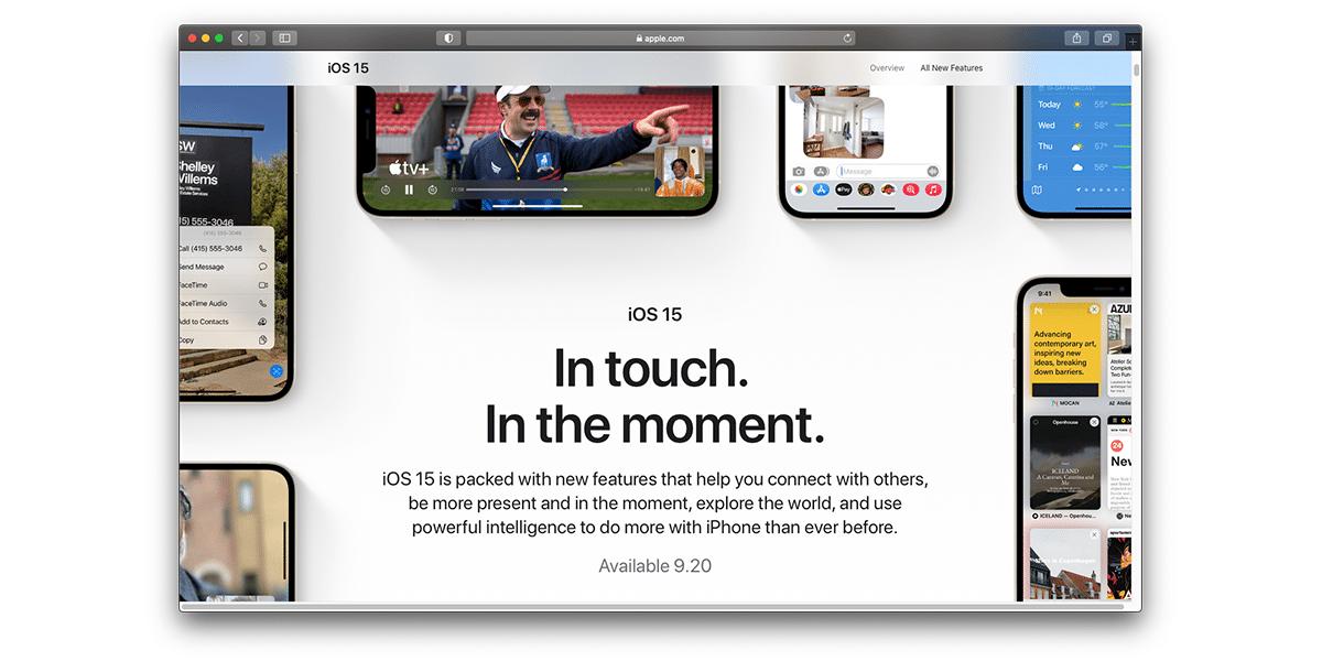 iOS 15 y iPadOS 15 llegan el 20 de septiembre