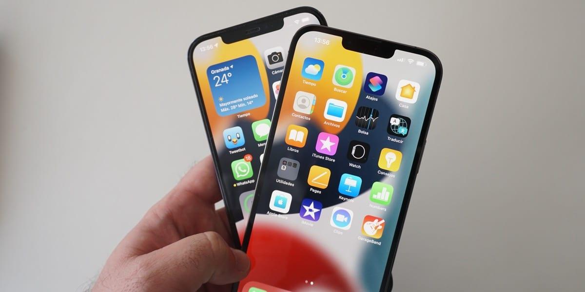 iPhone 13 Pro MAx y 12 Pro Max juntos