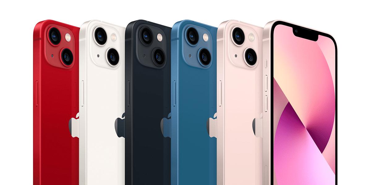 El nuevo iPhone 13 en todos sus colores disponibles