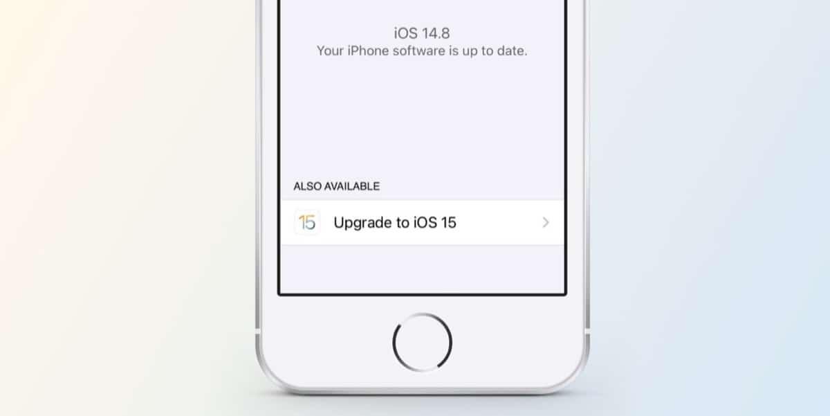 iOS 15 no instalar