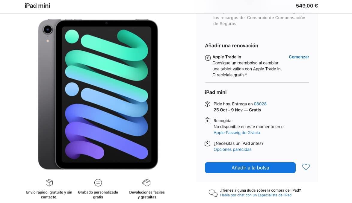 Stock iPad mini