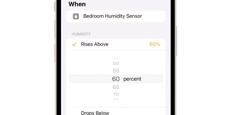 HomeKit y humedad en iOS 15.1 beta 2